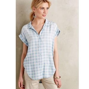Anthro Celestine Chambray Top